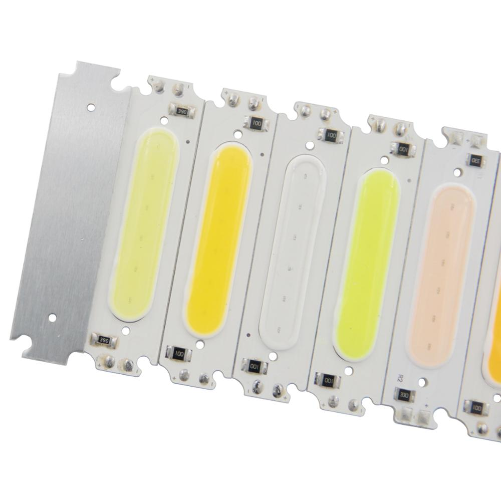 2W LED COB Light Bar Module Warm/Pure White/Red/Green/Blue/Pink/Purple/Orange DC 5V 60*15mm