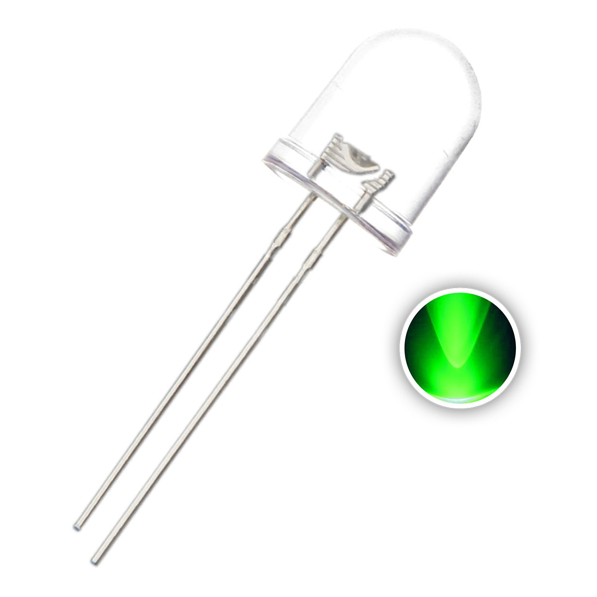 F10 10mm Clear Round Transparent LED Diode Lights Emitting White/Red/Green/Blue/Yellow