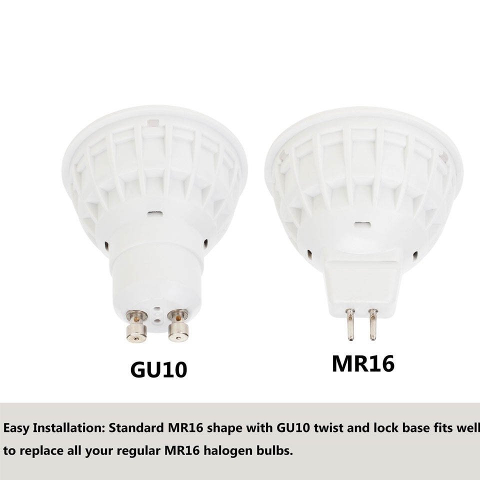 15W GU10 MR16 COB LED Bulb Lamp AC85-265V DC12V LED No Dimmable Spotlight Lens Cover