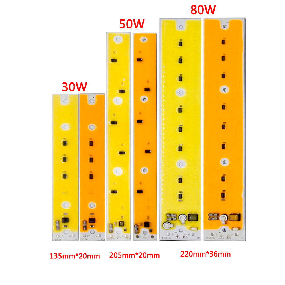 30W 50W 80W LED Light COB Chip Lodine Tungsten Light Driverless AC 110V/220V Emitting White/Warm White