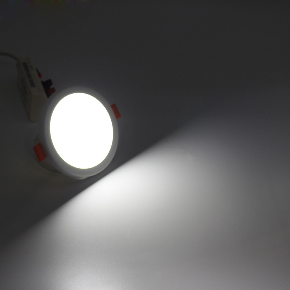 32W 36W 48W AC110-265V 2835 SMD LED Round Panel Light Concealed with Spring