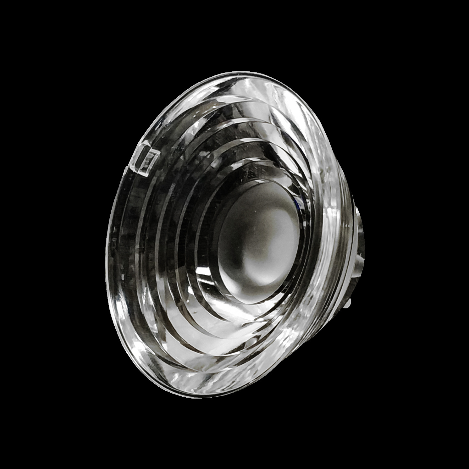 48mm Diameter LED Lens Concave Water Clear Lens For CREE XPE 3535