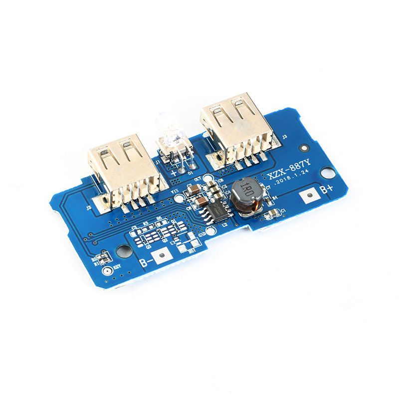 18650 Lithium Battery Charger PCB Board Boost Step Up Module With Led
