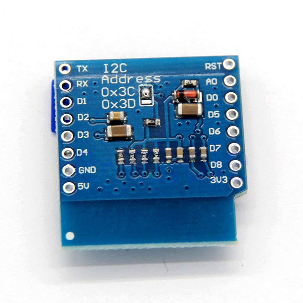 "0.66"" WeMos D1 Mini OLED Shield with I2C/IIC 64x48 Pixels"