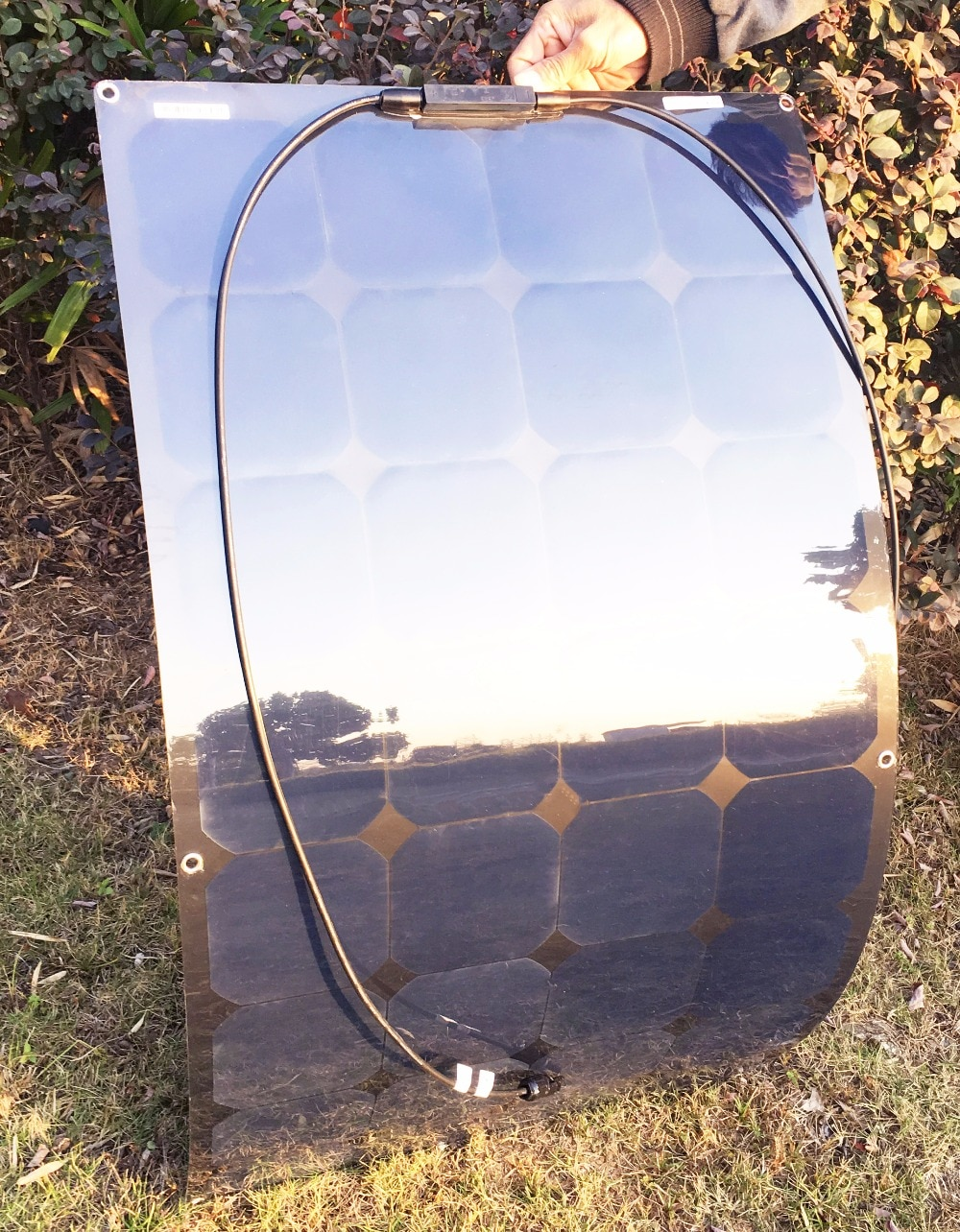 100W 12V Monocrystalline Flexible Solar Panel Battery Charger