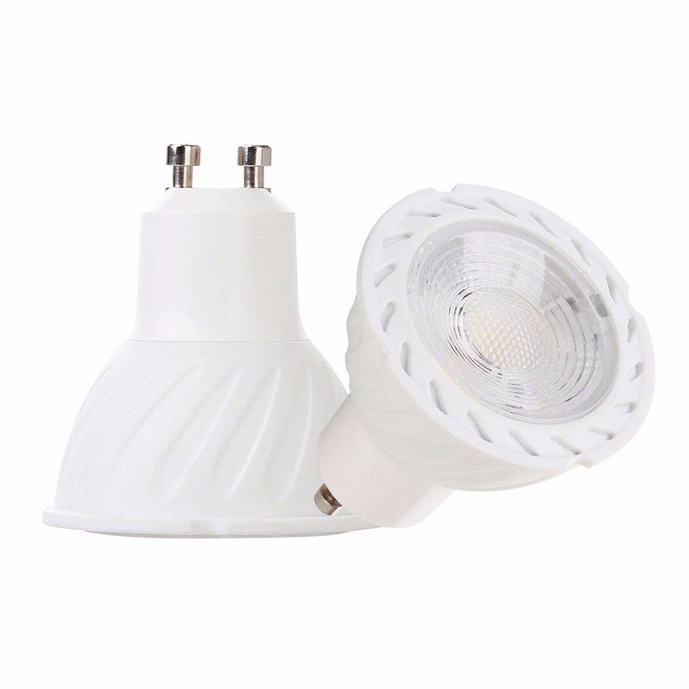 5W GU10 COB LED Bulb Lamp AC85-265V LED No Dimmable Spotlight