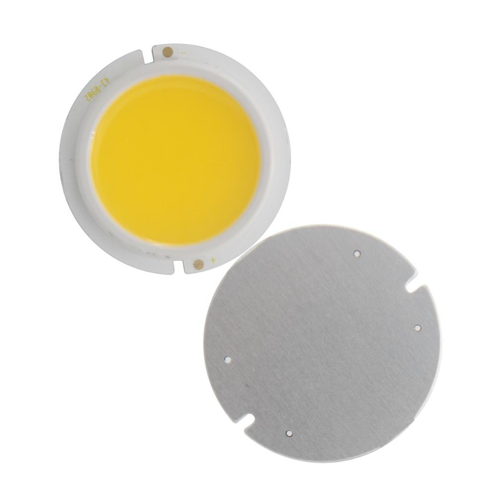 3W/5W/7W/9W LED COB Module LED COB Round Panel 30V 43mm PCB 37mm Emitting Area Warm/ Natural White