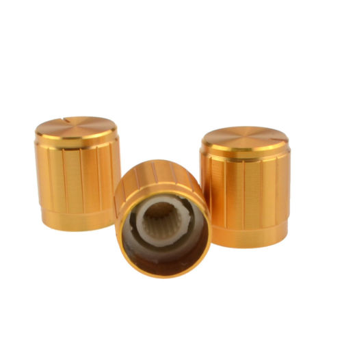 Aluminum Alloy Potentiometer Control Volume Knobs Mini Cap 15*16.5mm