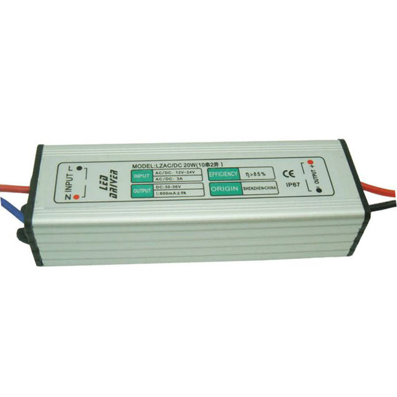 1-7/4-9/5-12/9-12/6-18/10-25*1W 300mA Constant Current LED Waterproof Boost Driver AC/DC12V/24V Input