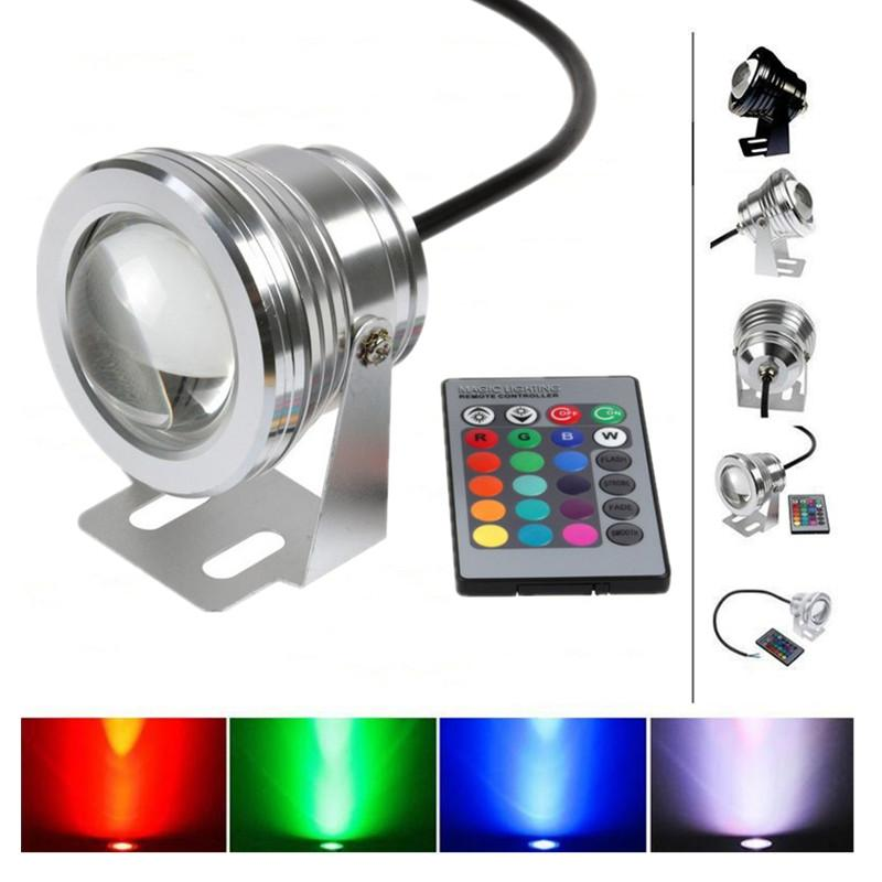10W DC12V Mini LED Underwater Floodlight with focus Lens