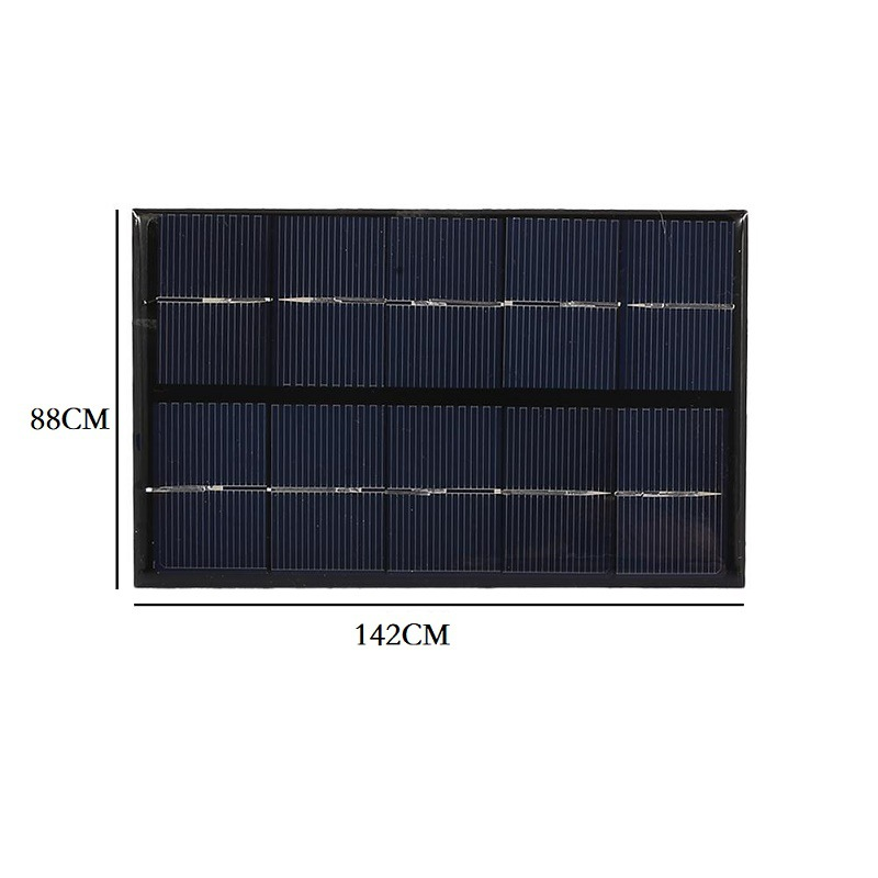 2W 5V Polysilicon Epoxy Solar Panel Cell Battery Charger
