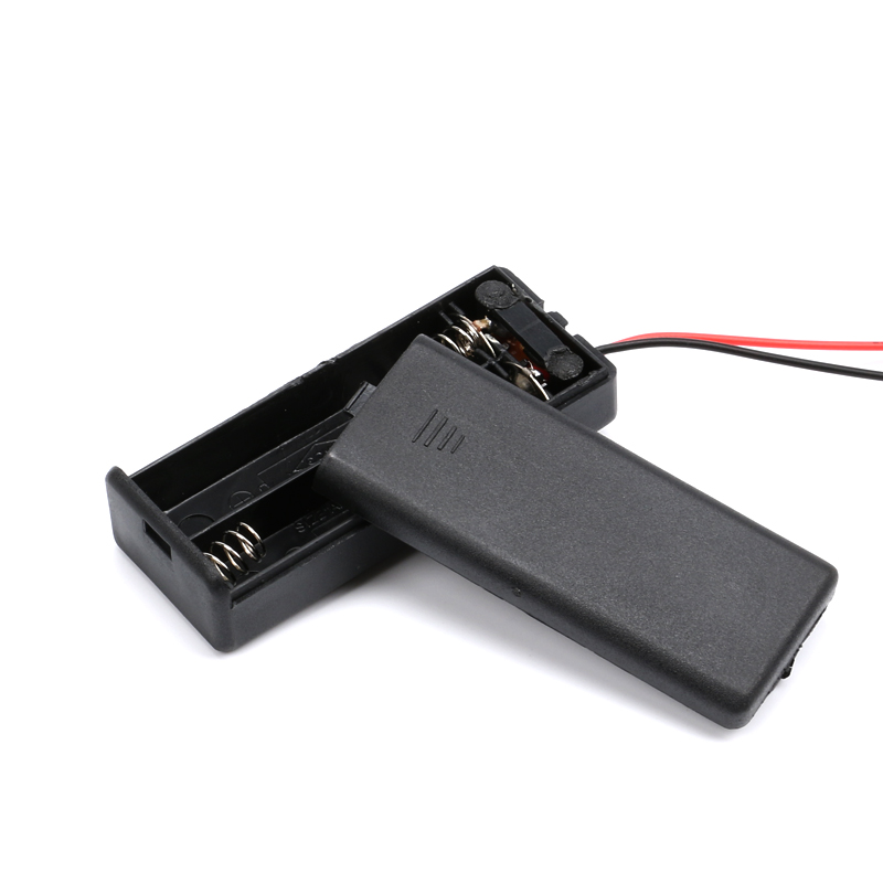 2 /3/4* AAA Battery Storage Case Box Holder for AAA Batteries with ON/OFF Switch & Wire Leads DIY