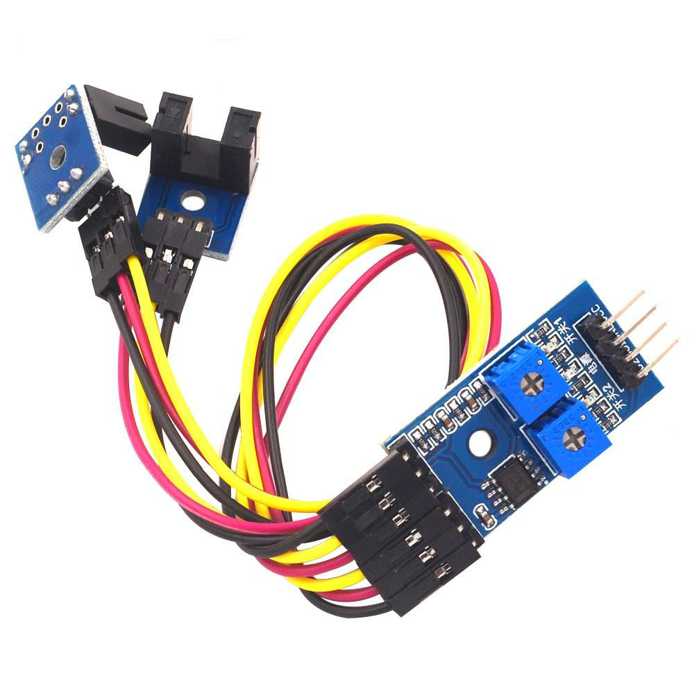 2 Channel Speed Detection Sensor Module Counting Module Motor Speed Slot Type Optocoupler Module