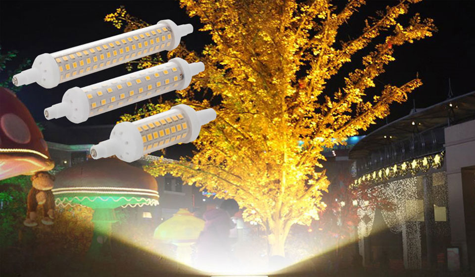 10W 15W 20W R7S 2835 SMD LED Corn Bulb Lamp AC220V-240V LED Ceramic Floodlight