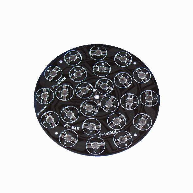 142mm 9W/12W/24W RGB Common Anode Aluminum Base Plate Black PCB Board