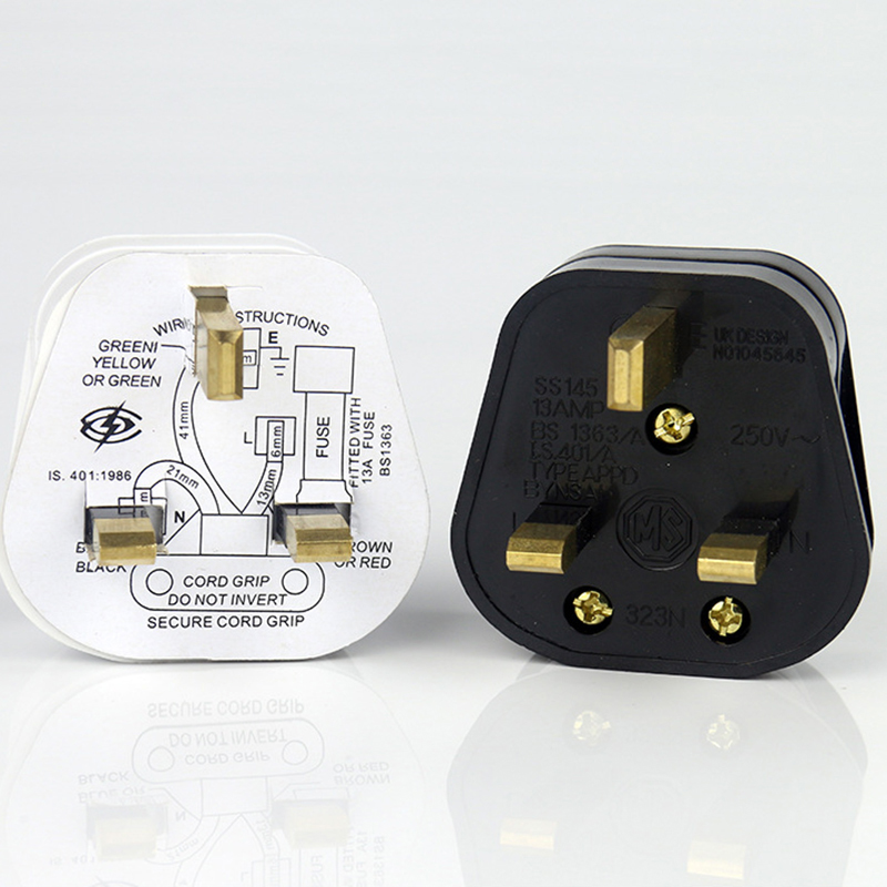 250V 13A UK Standard Three Hole Plug Switch Power Adapter