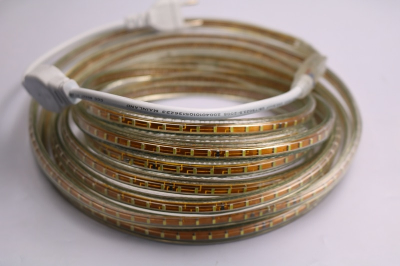 220V 3014 SMD LED Flexible Strip 120 LEDs/m Emitting White/Warm White/Red/Green/Blue/Yellow