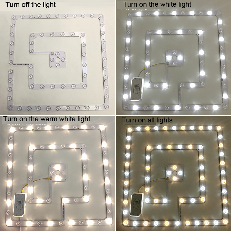 72W 96W Ceiling Lamp LED Light Source Module with Lens labyrinth Shape