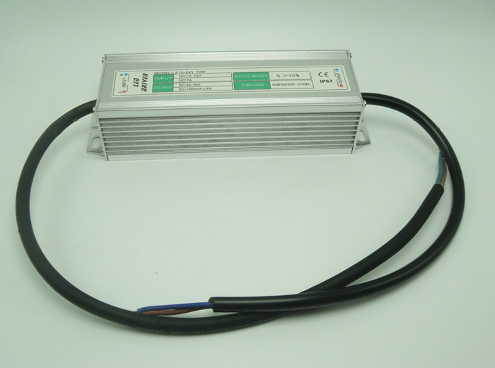 70W 1500mA Constant Current LED Waterproof Boost Driver DC12V-24V Input