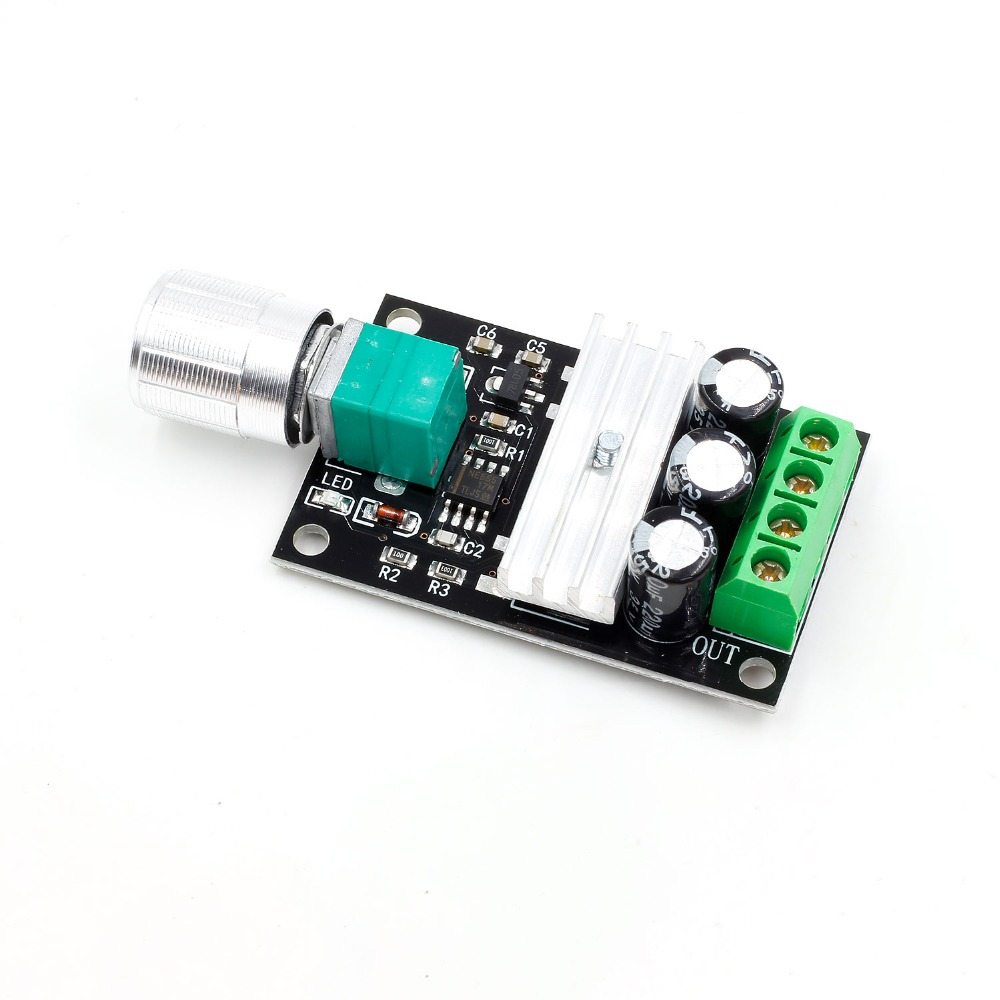 80W 3A DC 6V 12V 24V 28V PWM Motor Speed Controller Regulator with Potentiometer Switch