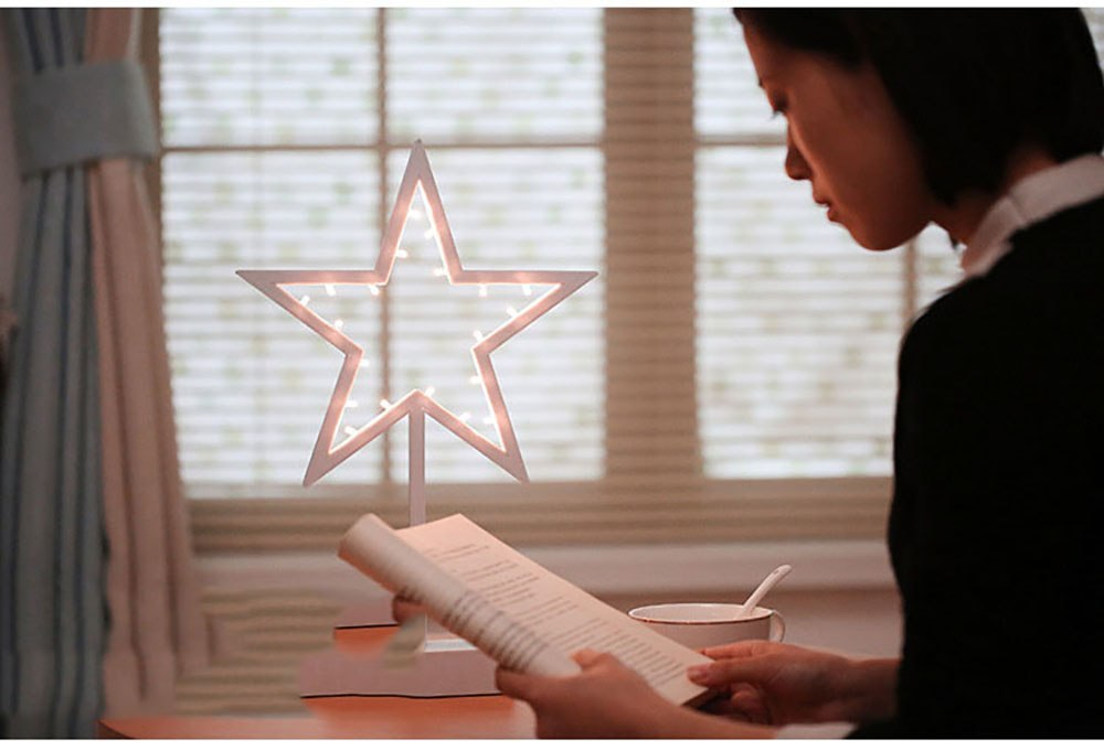 Battery Powered LED Heart/Star/Christmas Tree Novelty Fairy Light