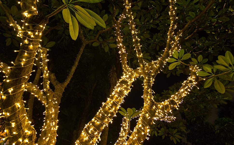 Battery Powered LED Fairy Light String Silver Wire 10M