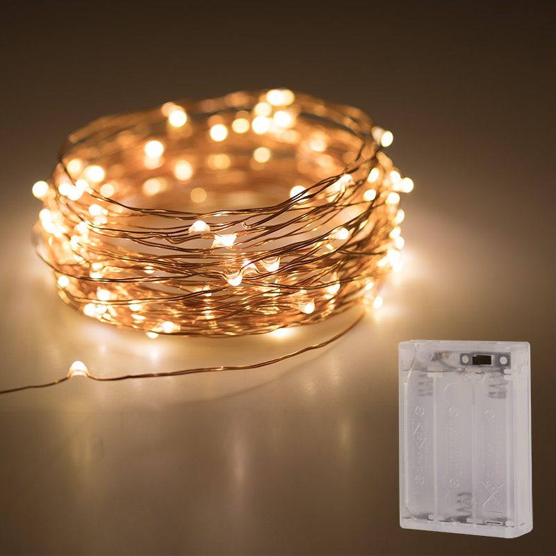 Battery Powered LED Fairy Light String Copper Wire 5/10/20M 8 Modes