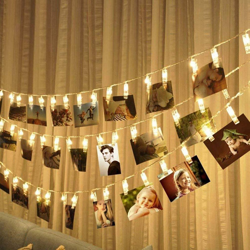 Battery Powered LED Photo Clip Light String 1.5/2/3/4/5/10M