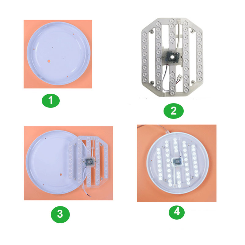 Ceiling Lamps Lighting Source LED Module 50W 38W 24W  Double Color with Lens Modules