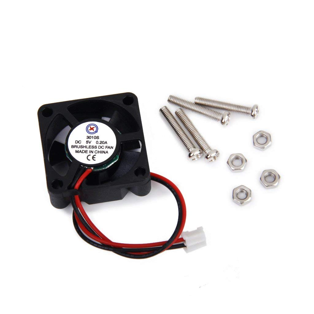 DC 5V 0.2A Cooling Fan w/ Screws for Raspberry Pi Model B+