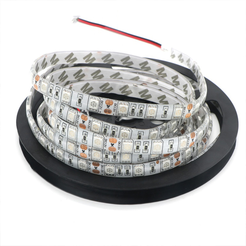 DC 12V 5050 SMD LED Strip Light Pink Ice Blue Non-waterproof Emitting Pink/Ice Blue