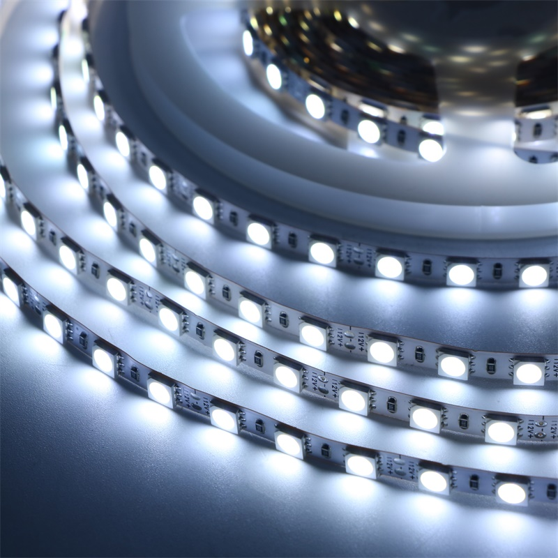 DC 12V 5050 SMD Flexible Strip 84LEDs/m Emitting White/Warm White/Blue