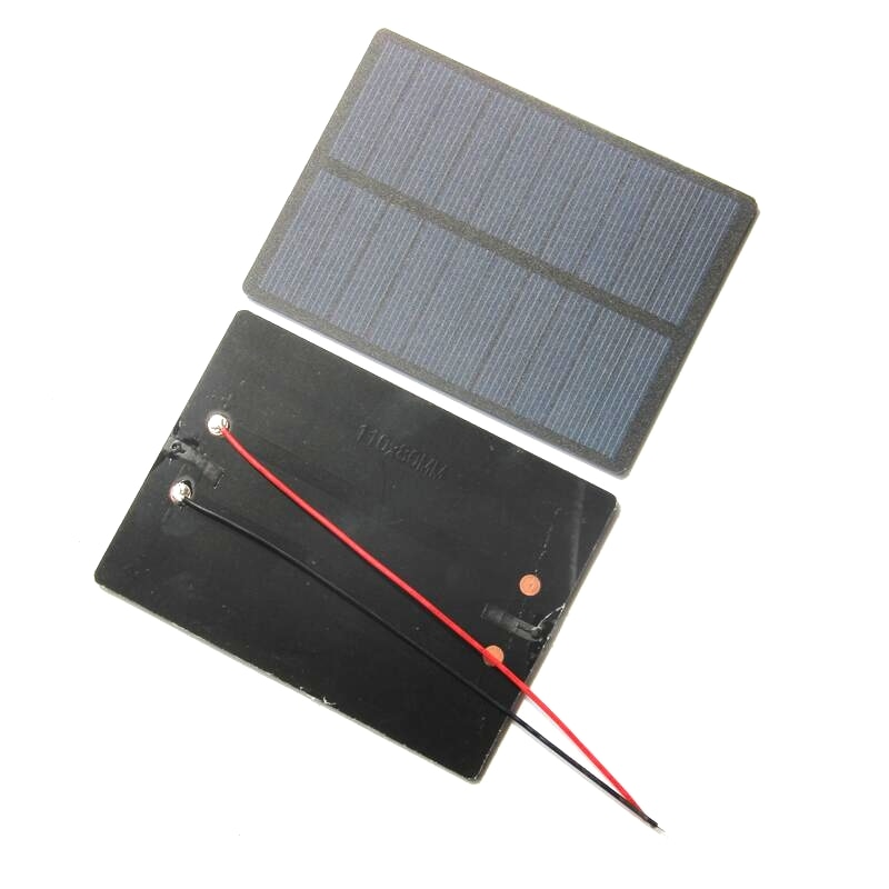 1.3W 5V Polysilicon PET Solar Panel Battery Charger
