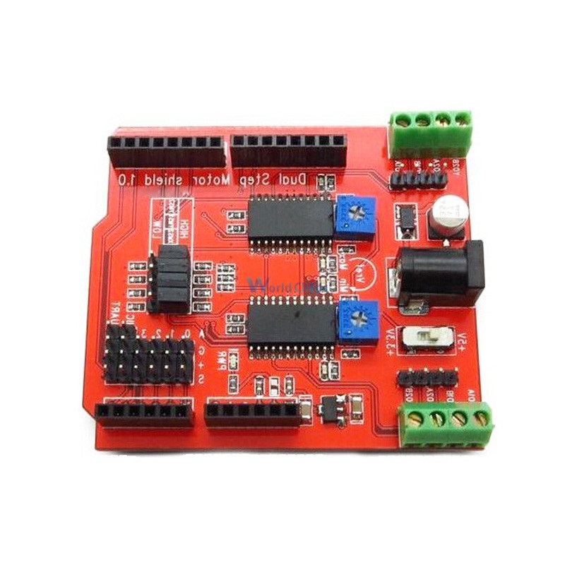 Dual Step Motor Driver Shield For Arduino IO PWM CNC 3.3V 5V With A3967Chips