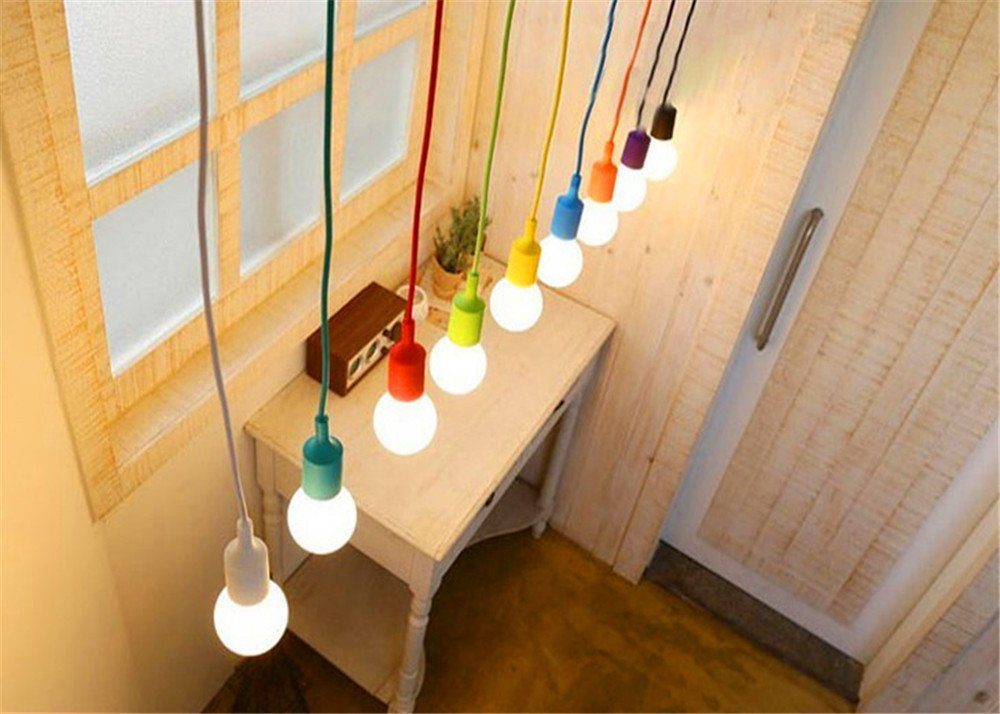 E27 Silicone Lamp Head Industrial Pendent Light Lamp Holder