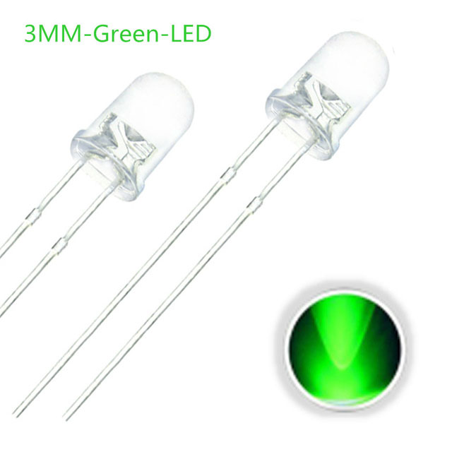 F3 3MM Round LED Light Diode Emitting Green/Yellow/Blue/White/Red/Warm White/Orange/Purple/Pink/Yellow Green