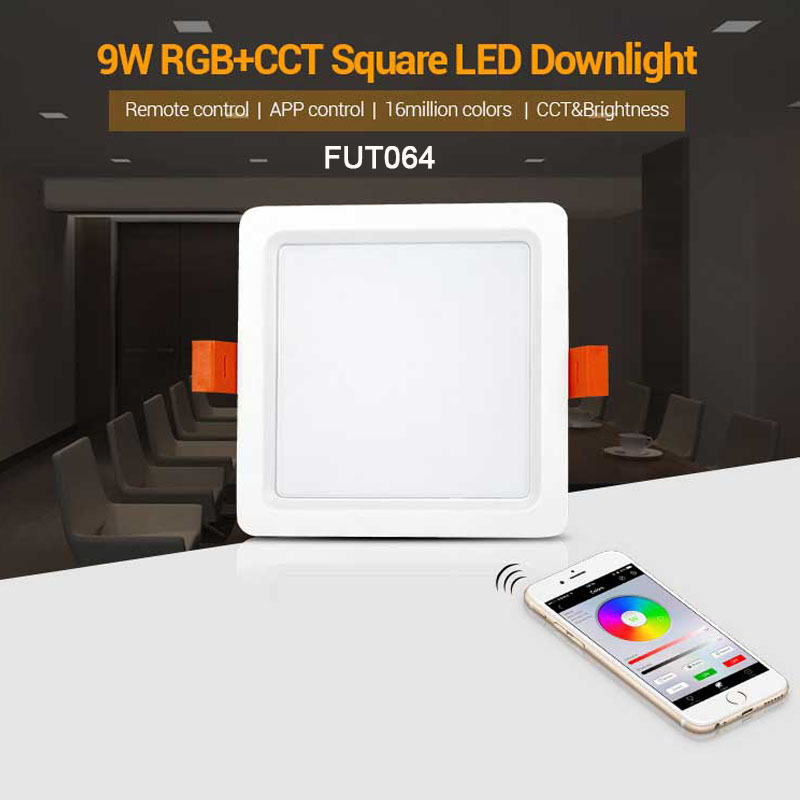 Milight RGB+CCT LED Downlight AC110V 220V Dimmable LED Ceiling Spotlight FUT062/FUT063/FUT066/FUT068/FUT069