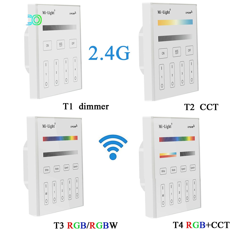 Milight T1/T2/T3/T4/B0/B1/B2/B3/B4/B8 LED Smart Panel Remote Strip Light Controller