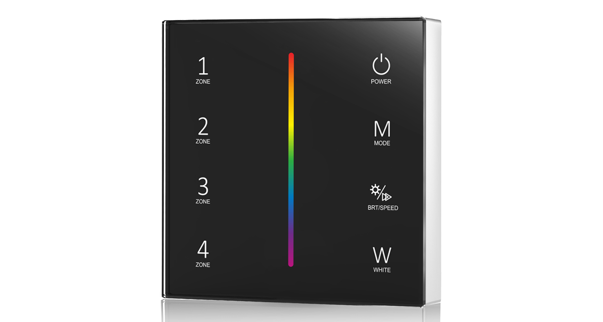 T24 DC3V 2.4G 4 Zones RGB/RGBW Touch Panel Controller for LED Lamp