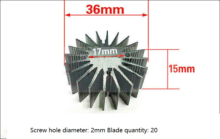 36mm*15mm High Power LED Alluminum Heatsink Suitable for 3W Power LED