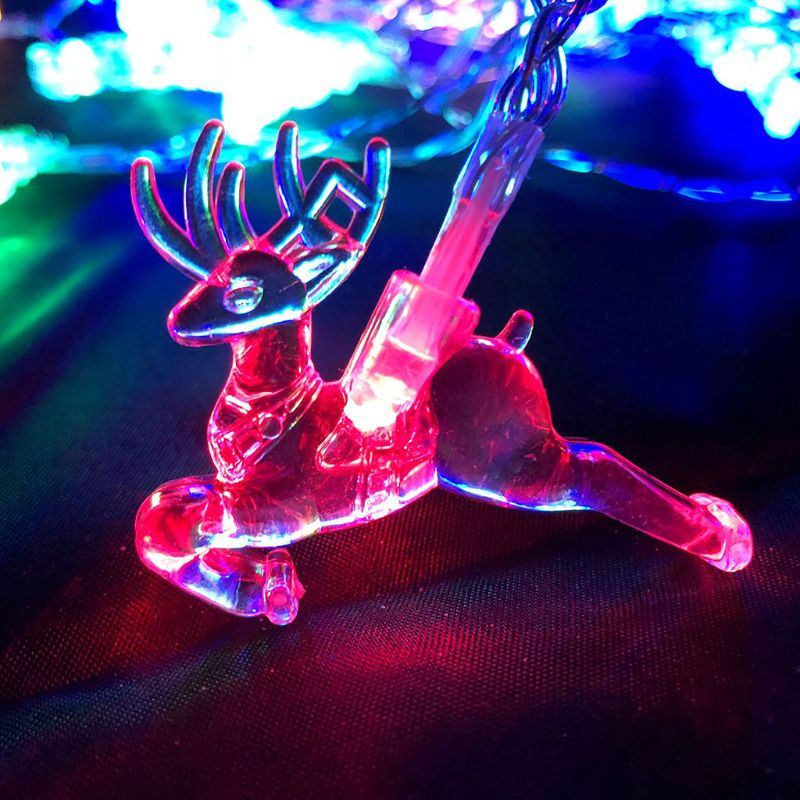 USB Powered LED Elk Jumping Reindeer Light String 3M/6M