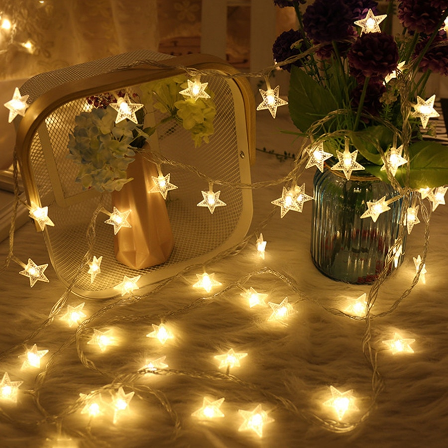 USB Powered LED Star Light String Remote Control 6M/10M 8 Modes