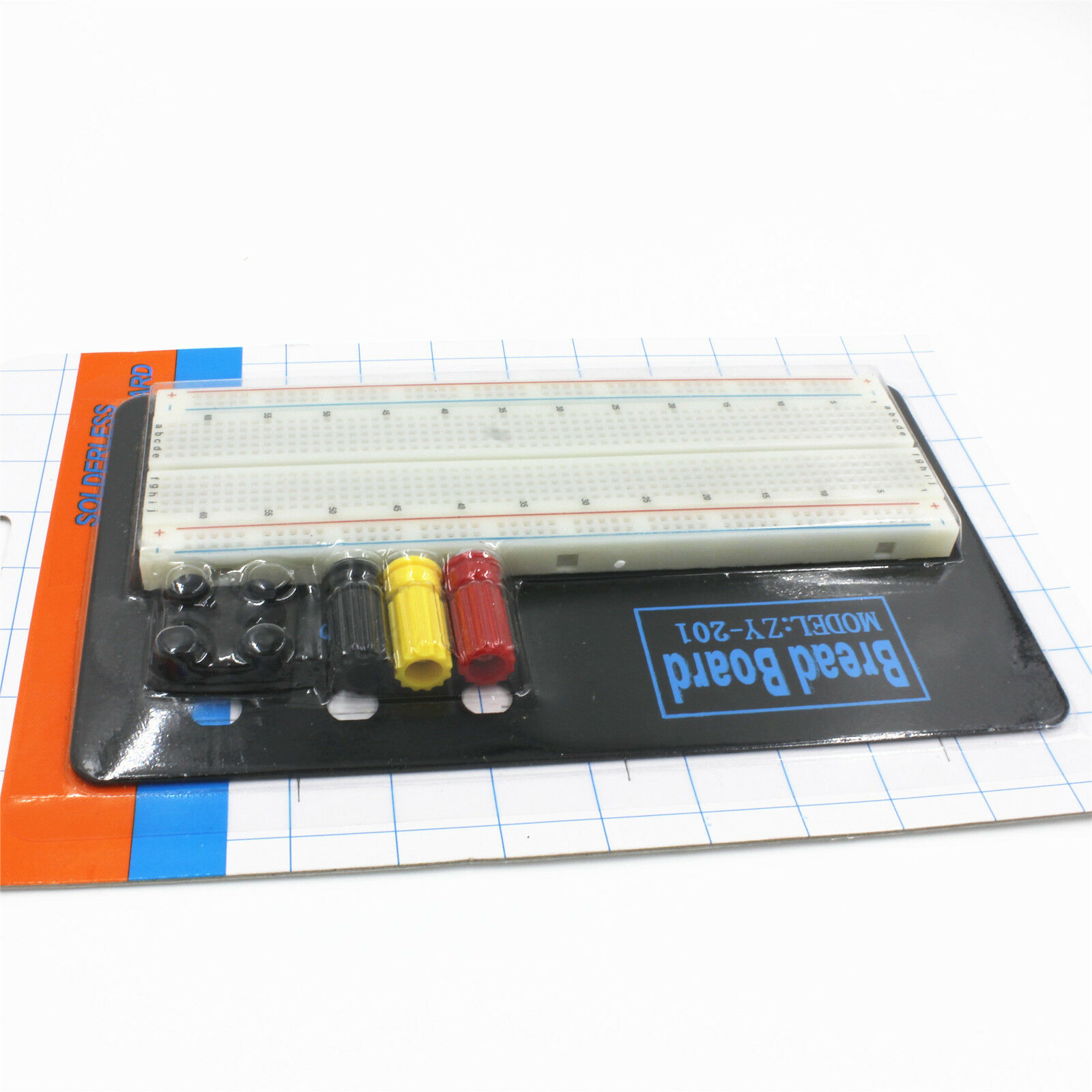 ZY-201 830 Tie Point Electronic Circuit PCB Board Solderless Breadboard