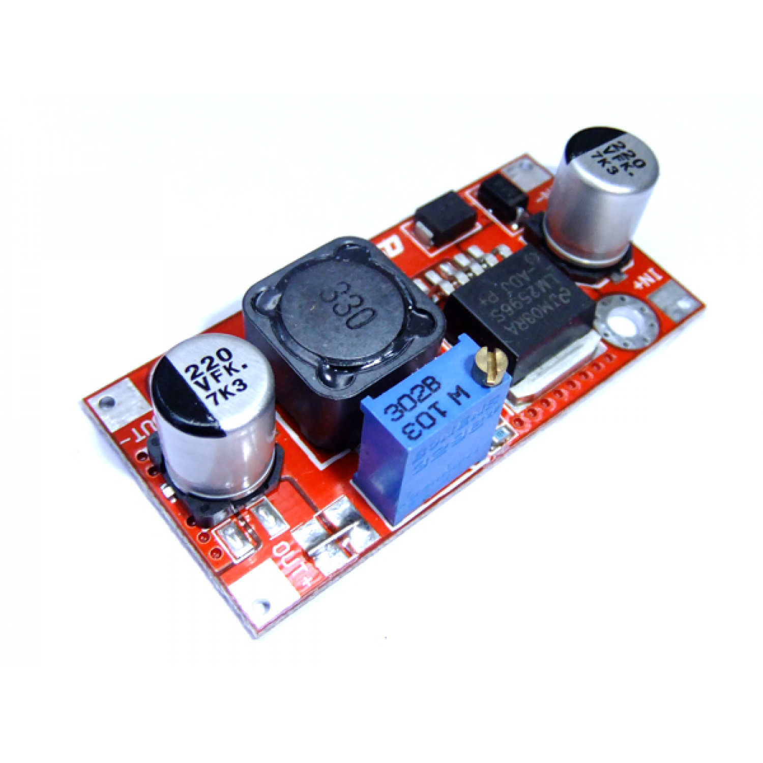 Mini LM2596 Power Supply Module 3A DC-DC Adjustable Buck Module than LM2576 QS-2405CBD-2A