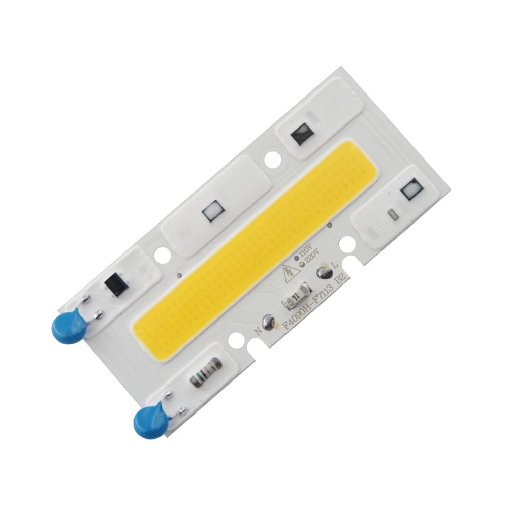 30W 110x40mm Led Cob Chip Diode Driverless AC 220V Warm White 380-840nm for Flood Light Plant Grow Full Spectrum