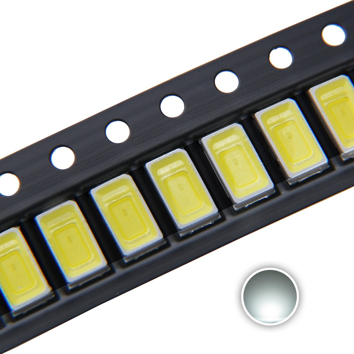 5730 (5630) SMD LED Diode Lights Chips Emitting White/Red/Green/Blue/Yellow/Purple/Pink
