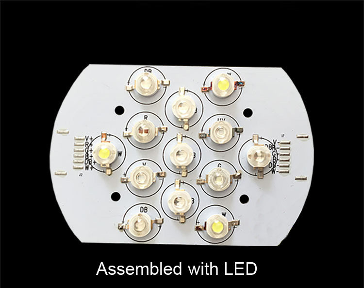 6 Channel Aluminum Plate AI PCB LED for Aquarium Coral Light