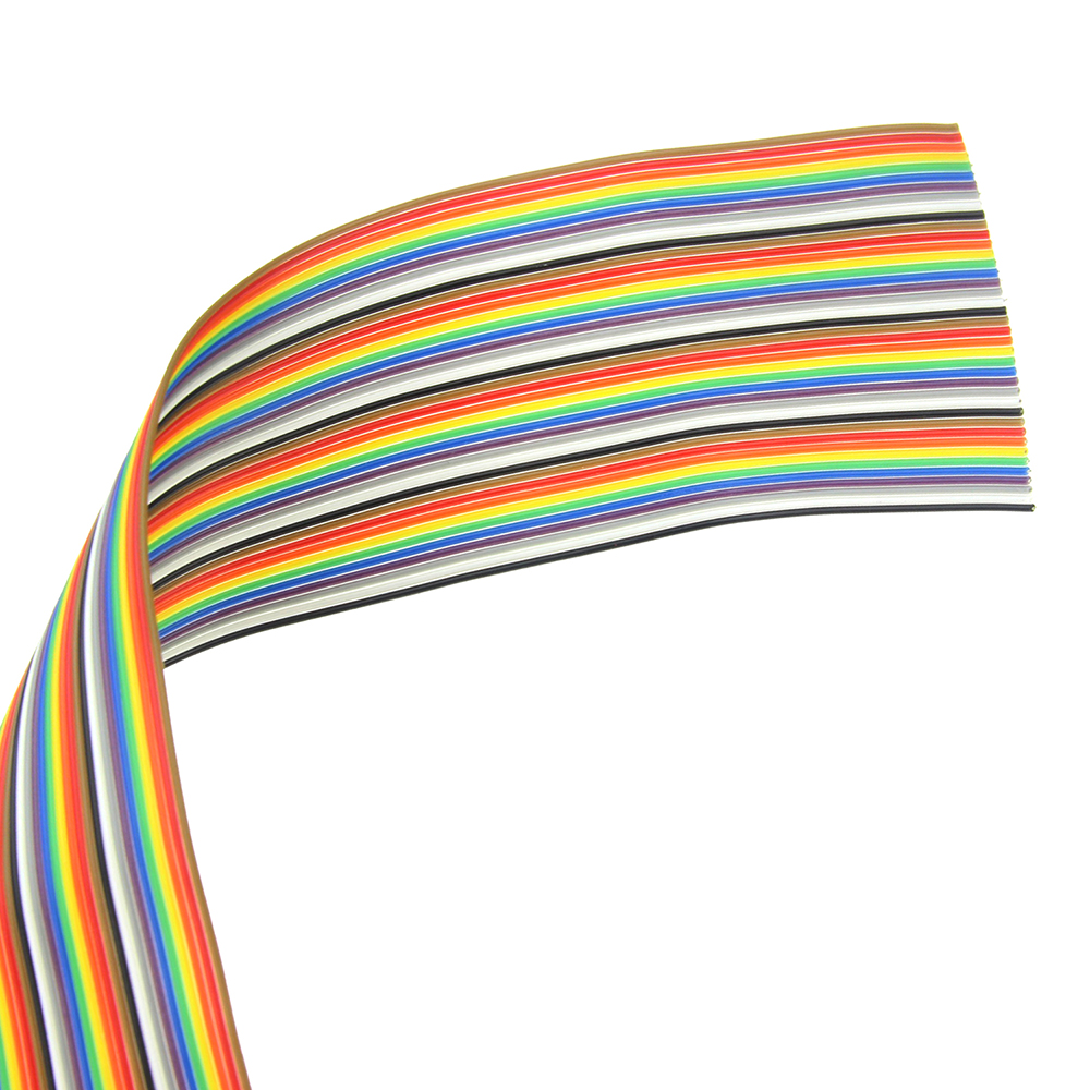 Ribbon Cable 20 WAY Flat Color  Rainbow Cable 1.27MM Pitch One Meter