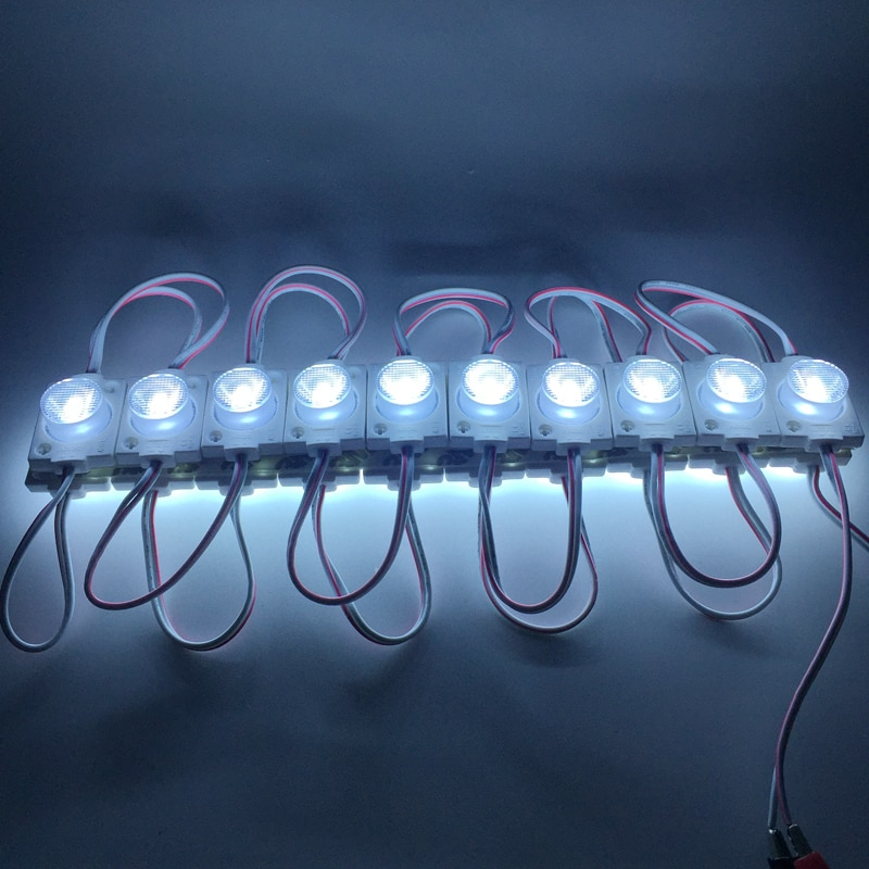 1.5W LED Module Injection Lens 3030 Super Bright Advertising Light IP65 Waterproof Sign Backlight Cold White 20pcs/lot
