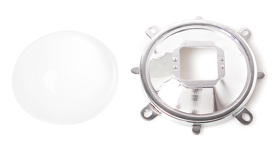 Optical Glass Lens 77mm + 82mm Reflector + Fixed Bracket Holder Suite for 20W-100W Power LED 60/120 Degree Focus